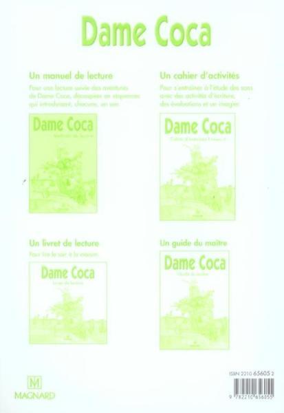 Livre - Dame Coca ; CP, CE1 ; cahier d'exercices, niveau 1 - Chapouton