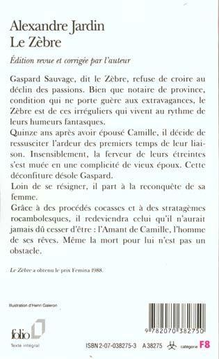 Livre le zebre alexandre jardin for Alexandre jardin le zebre